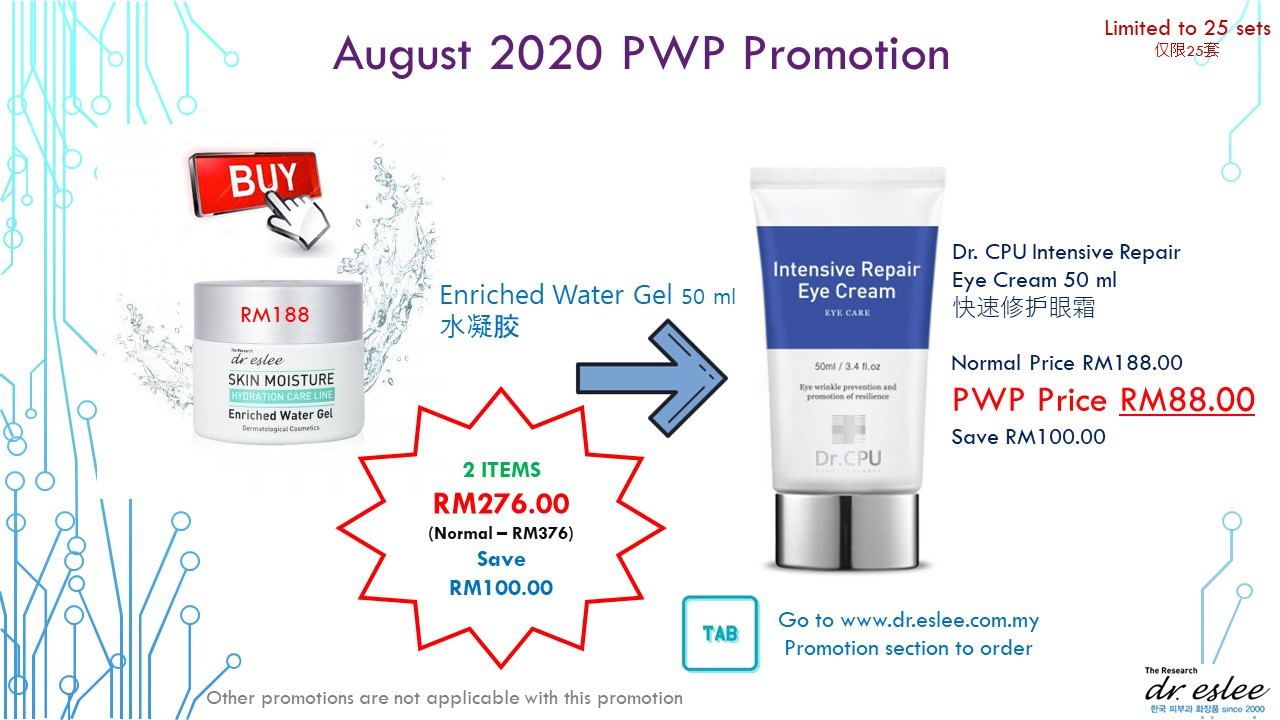 Enriched Water Gel & Intensive Eye Cream Promotion