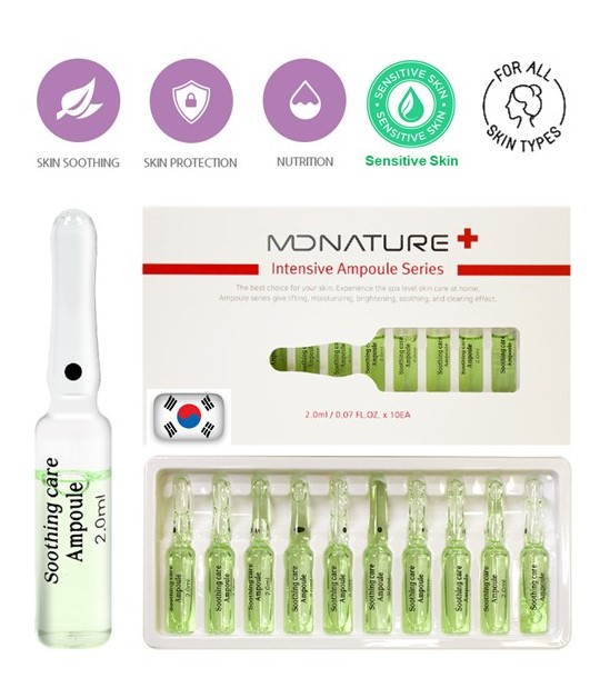 MDNATURE Soothing Care Ampoule 10 x 2 ml